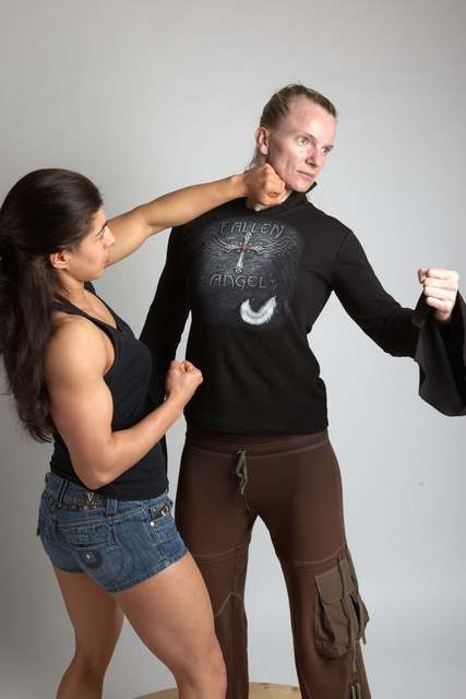 Adult Average White Fist fight Standing poses Casual Women