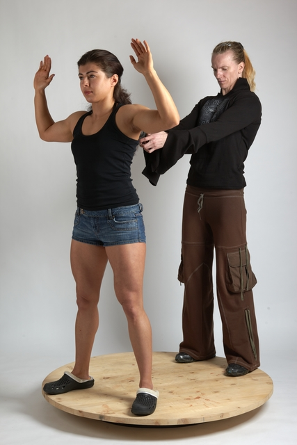 Adult Average Another Fighting with gun Standing poses Casual Women