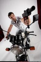 BIKER2 SHOOTING FRONT UZI2 15