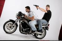 BIKERS RIDING SHOOTING UZI 01