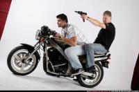 BIKERS RIDING SHOOTING UZI 01