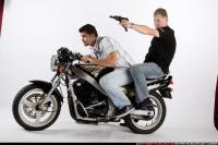 BIKERS RIDING SHOOTING UZI 00