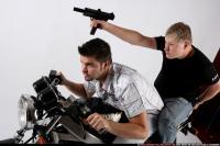 BIKERS RIDING SHOOTING UZI 04