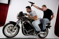 BIKERS RIDING SHOOTING UZI 05
