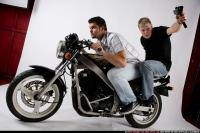 BIKERS RIDING SHOOTING UZI 06