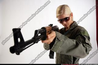 CLOSE UP ARMY AIMING AK FEMALE 00.jpg
