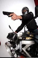 BIKER SHOOTING FRONT PISTOL 07