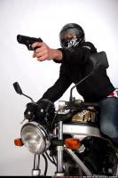 BIKER SHOOTING FRONT PISTOL 02