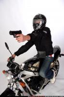 BIKER SHOOTING FRONT PISTOL 03