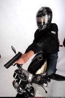 BIKER SHOOTING FRONT PISTOL 08
