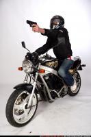 BIKER SHOOTING FRONT PISTOL 01