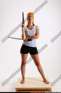 2014 08 AMY PIRATE FLINTLOCK SWORD GUARDING POSE 00 B