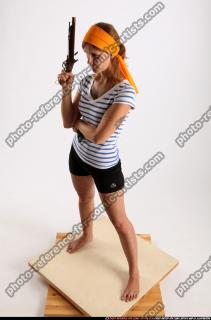 2014 08 AMY PIRATE FLINTLOCK SWORD GUARDING POSE 01 A