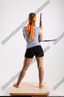 2014 08 AMY PIRATE FLINTLOCK SWORD GUARDING POSE 04 B