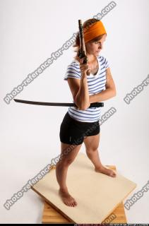 2014 08 AMY PIRATE FLINTLOCK SWORD GUARDING POSE 07 A