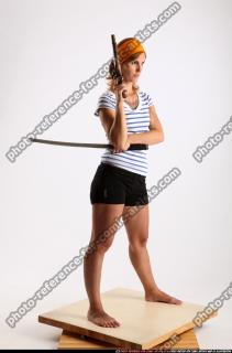 2014 08 AMY PIRATE FLINTLOCK SWORD GUARDING POSE 07 B