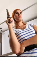2014 08 AMY PIRATE FLINTLOCK SWORD GUARDING POSE 11