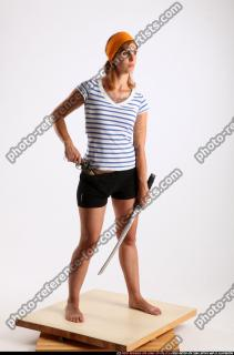 2014 11 AMY PIRATE FLINTLOCK SWORD DEFENDING POSE 07 B