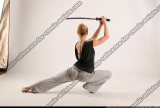 2015 11 RACHEL KNEELING SWORD POSE 04