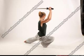 2015 11 RACHEL KNEELING SWORD POSE 05