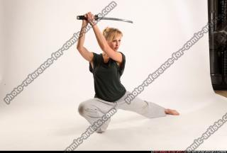 2015 11 RACHEL KNEELING SWORD POSE 07