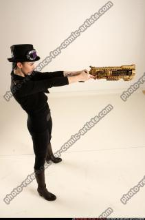 2017 02 CLAUDIA STEAMPUNK BLASTER RIFLE POSE1 AIMING 06 A