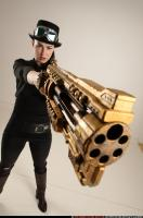 2017 02 CLAUDIA STEAMPUNK BLASTER RIFLE POSE1 AIMING 09