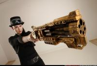 2017 02 CLAUDIA STEAMPUNK BLASTER RIFLE POSE1 AIMING 11