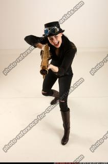 2017 03 CLAUDIA STEAMPUNK BLASTER RIFLE POSE1 SHOOTING 00 A