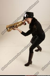 2017 03 CLAUDIA STEAMPUNK BLASTER RIFLE POSE1 SHOOTING 01 A