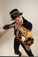 2017 03 CLAUDIA STEAMPUNK BLASTER RIFLE POSE1 SHOOTING 09