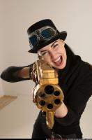2017 03 CLAUDIA STEAMPUNK BLASTER RIFLE POSE1 SHOOTING 08