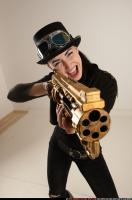 2017 03 CLAUDIA STEAMPUNK BLASTER RIFLE POSE1 SHOOTING 10