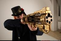 2017 04 VICTORIA STEAMPUNK BLASTER RIFLE AIMING POSE1 13