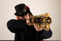 2017 04 VICTORIA STEAMPUNK BLASTER RIFLE AIMING POSE1 11