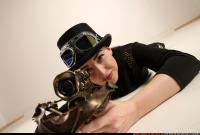 2017 08 CLAUDIA STEAMPUNK LAYING AIMING CROSSBOW PISTOL 12
