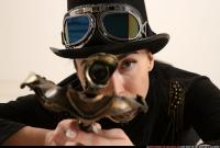 2017 08 CLAUDIA STEAMPUNK LAYING AIMING CROSSBOW PISTOL 09