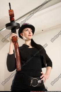 2017 11 CLAUDIA STEAMPUNK TOMMYGUN NEUTRAL POSE 09
