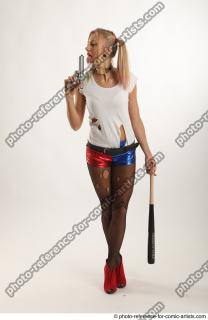 03 2018 01 NIKOL HARLEY STANDING POSE WITH BASEBALL BAT AND GUN