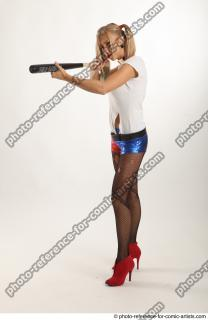02 2018 01 NIKOL HARLEY STANDING POSE WITH BASEBALL BAT
