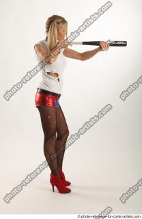 07 2018 01 NIKOL HARLEY STANDING POSE WITH BASEBALL BAT