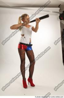 10 2018 01 NIKOL HARLEY STANDING POSE WITH BASEBALL BAT