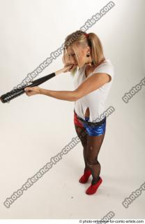 17 2018 01 NIKOL HARLEY STANDING POSE WITH BASEBALL BAT