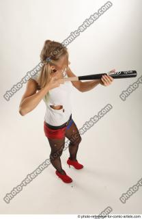 14 2018 01 NIKOL HARLEY STANDING POSE WITH BASEBALL BAT