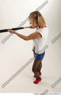 18 2018 01 NIKOL HARLEY STANDING POSE WITH BASEBALL BAT