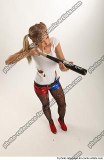 15 2018 01 NIKOL HARLEY STANDING POSE WITH BASEBALL BAT
