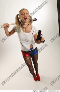 16 2018 01 NIKOL WITH BASEBALL BAT AND GUN