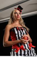 13 KRISTYNA STANDING POSE WITH RED APPLE