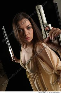 15 2018 01 BARBORA STANDING POSE WITH PISTOL AND SHOTGUN