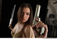 16 2018 01 BARBORA STANDING POSE WITH PISTOL AND SHOTGUN